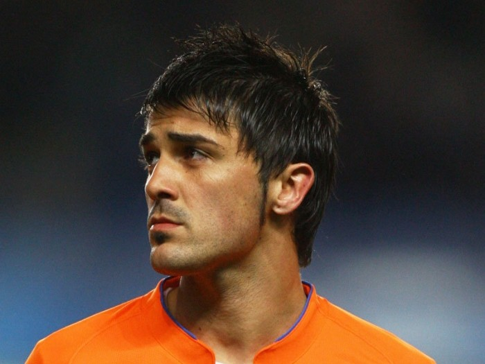 soccer - David Villa haircut