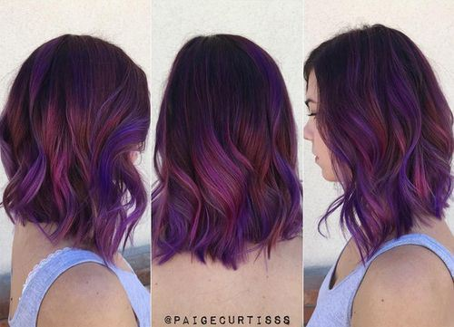 red-violet-ombre hair color trend