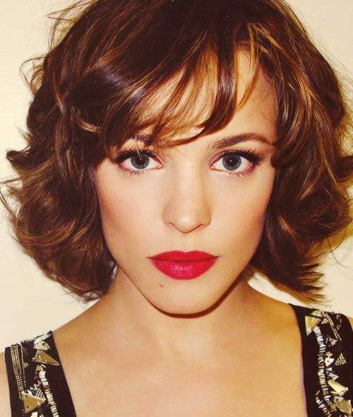 wavy bob short haircuts for thick hair