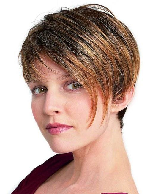 short haircuts for thick hair of women 2-min