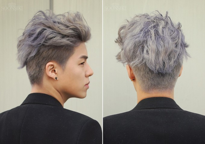 undercut bleach hair for men