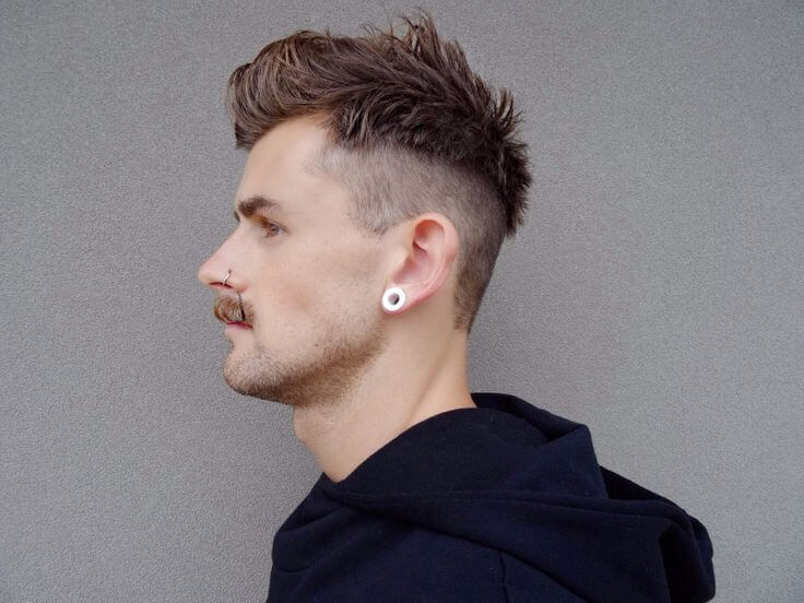 undercut hiarstyle for men with mustache