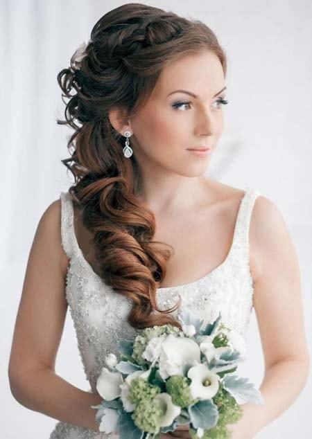 Side Ponytail Long Wedding Hairstyles For Women
