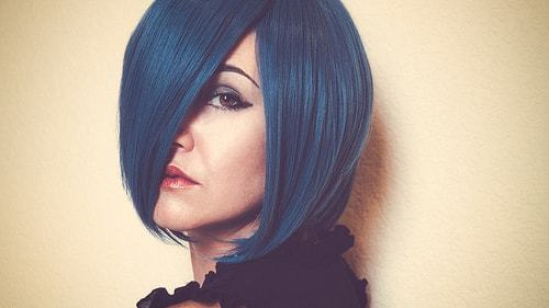 color full asymmetrical Bob