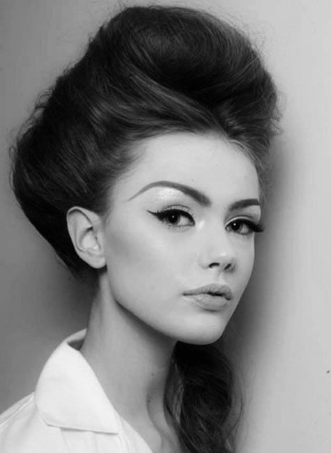 ponytail beehive hairdo hairstyle for girl