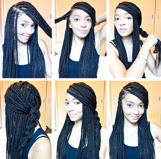 Big Box Braids hair for girl