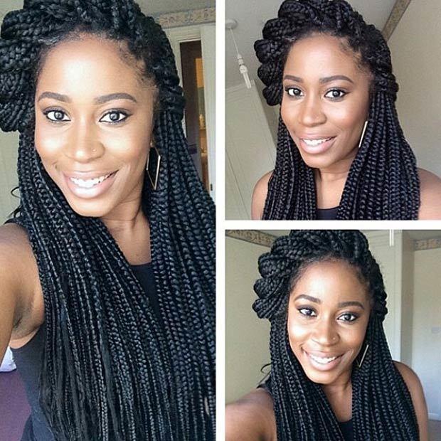 box braids styles for black women