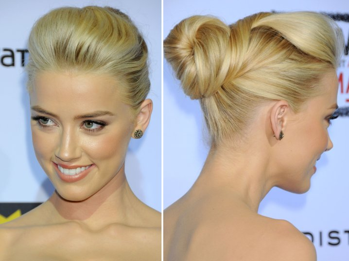 Easy And Pretty Chignon Buns Hairstyles Quick Updo For Women