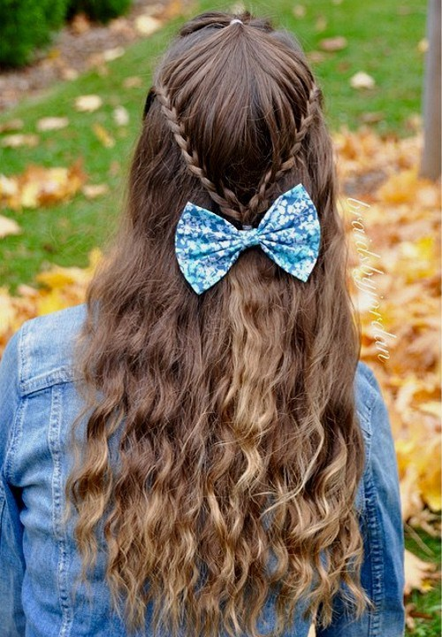 Cutest Easy to do school girl hairstyles 1-min