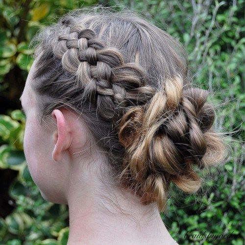 Cutest Easy to do school girl hairstyles 4-min