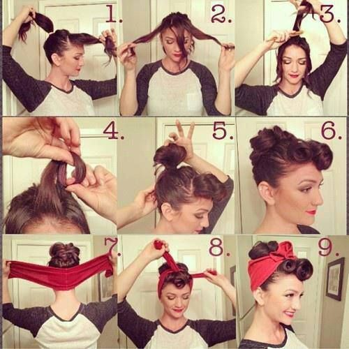 Big Curls Vintage Pin Up Hairstyles