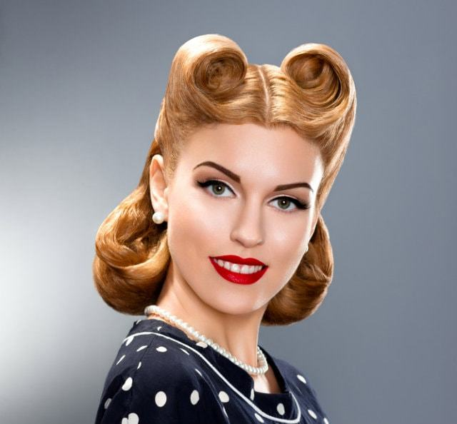 nice Vintage Pin Up Hairstyles for Women
