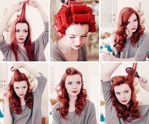 Easy Vintage Pin Up Hairstyles for Women 5-min