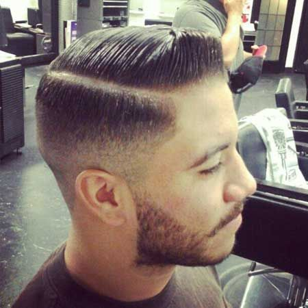 Rockabilly Hair Style With Short Pompadour
