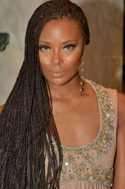 black women Cornrow braids long haircut