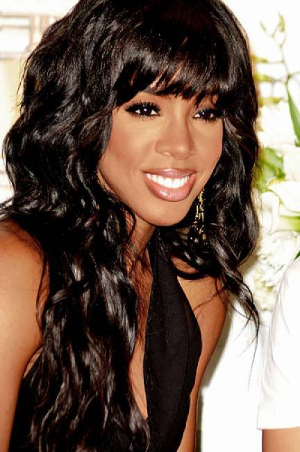 Blunt fringe hairstyle for black girl