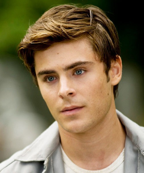 Zac Efron Hairstyle with Blonde highlights