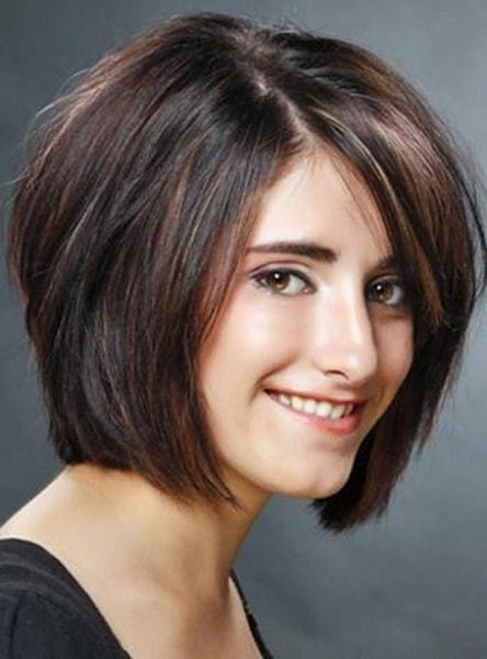 Layered bob with blunt hairstyle for women