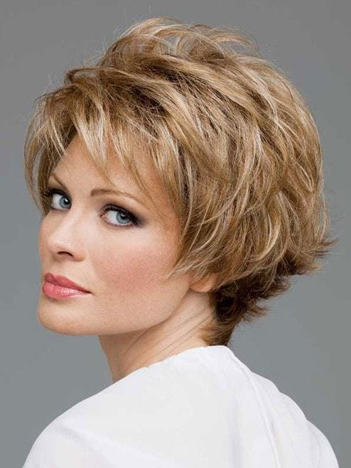 Textured short layered bob hairstyles for women