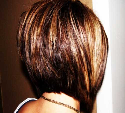 Short stacked bob hairstyles for women 1-min