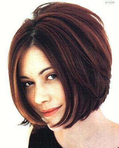 Short stacked bob hairstyles for women 13-min