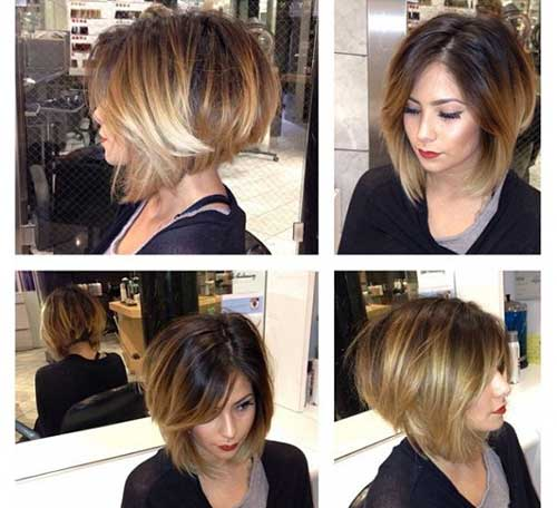 Short stacked bob hairstyles for women 14-min
