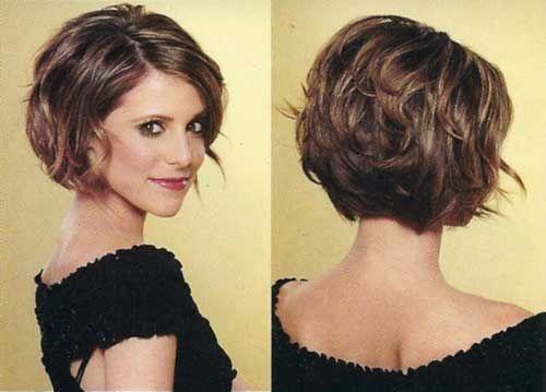 Short stacked bob hairstyles for women 16-min