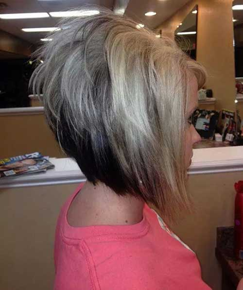 Wild And Angled Short Stacked Bob Hairstyles