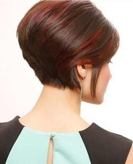 Short stacked bob hairstyles for women 7-min