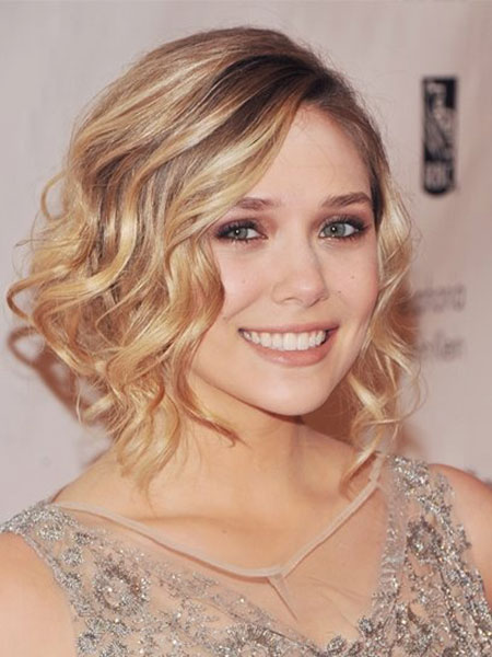 nice highlights Short wedding hairstyle for cute girl