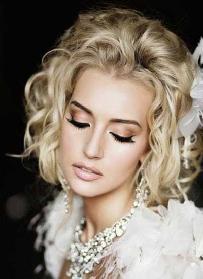 short hair wedding styles for beautiful girl