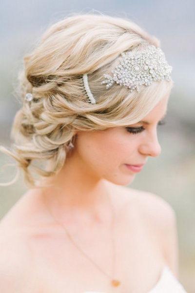 women short hair wedding styles with Semi bun