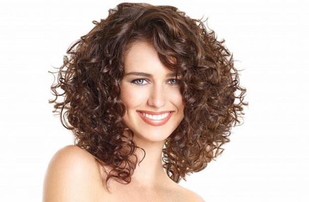 shaped bob curly haircut for women