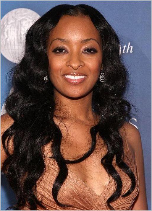 Long wavy curly hair for black girl