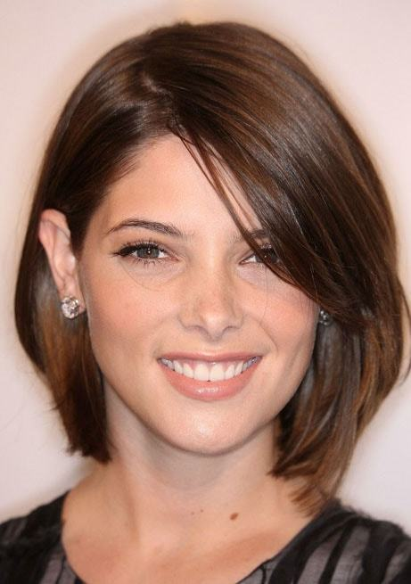 Soft brown bob hair color for women