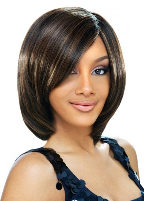 Soft highlight bob hairstyle for young girl