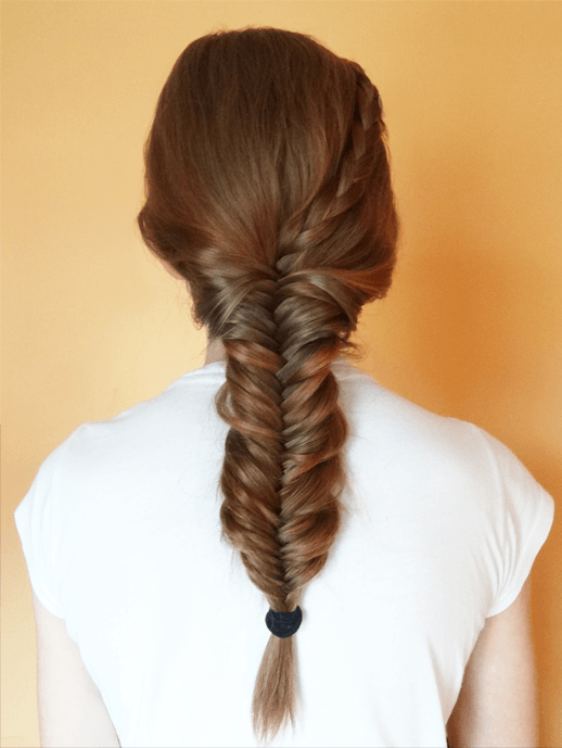 fishtail braid 7-min