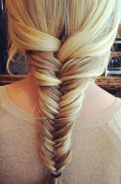 fishtail braid hairstyle for young teen girls