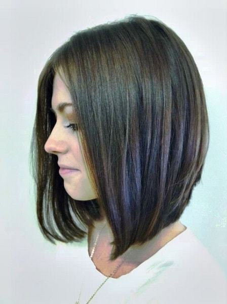Long Angled Bob Haircut For Women