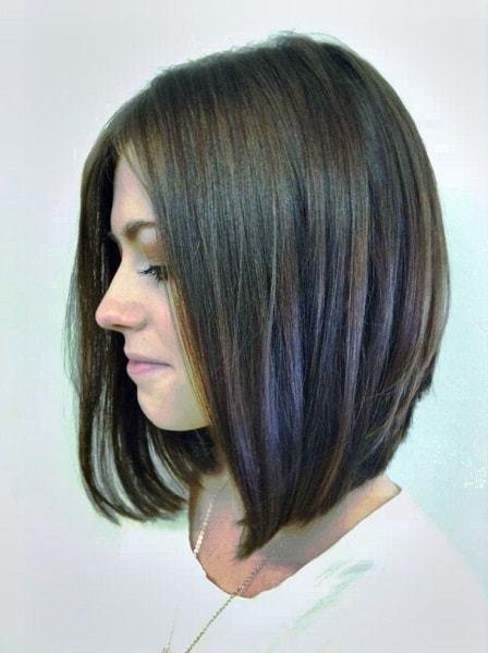 Astonishing 25 Best Long Angled Bob Hairstyles We Love Hairstylecamp Short Hairstyles Gunalazisus