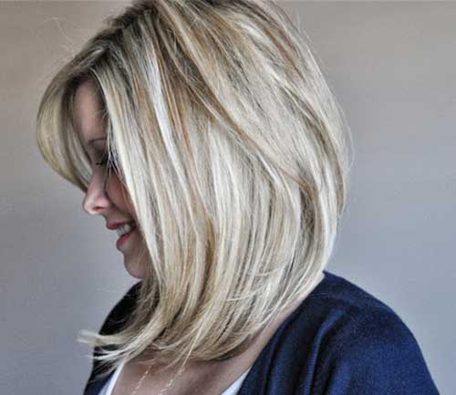 long angled bob hairstyle for women