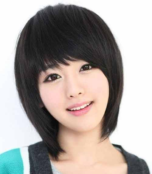 Have short hair style for asian