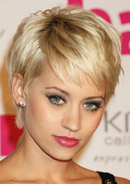 pixie haircut for young women