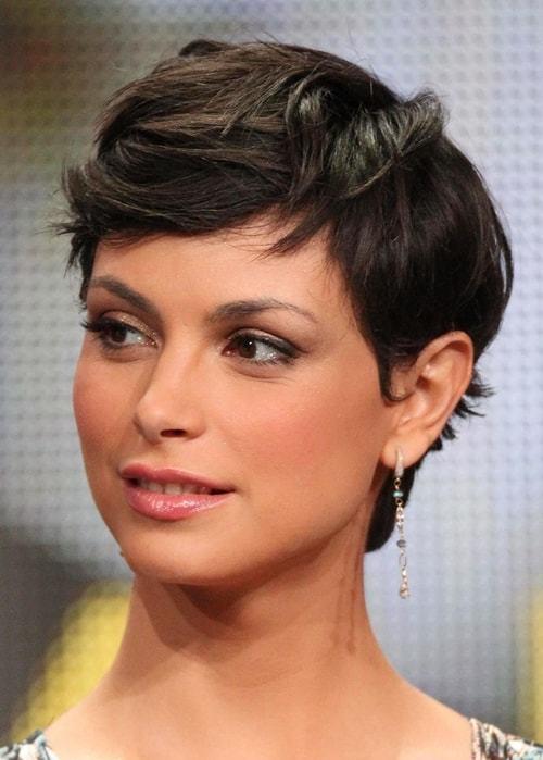 Windblown pixie haircut for beautiful women