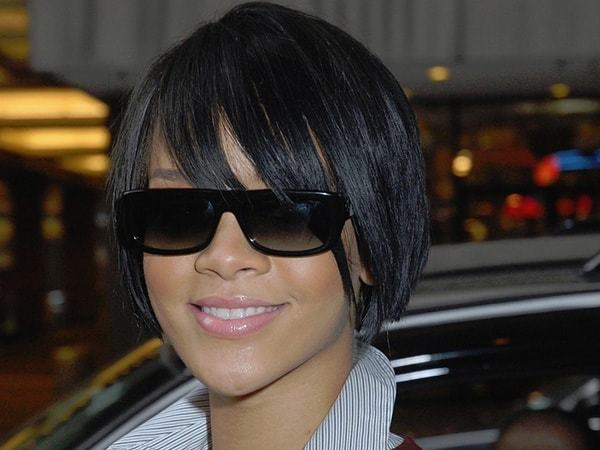 all time favorite Wispy bangs haircut for black girl