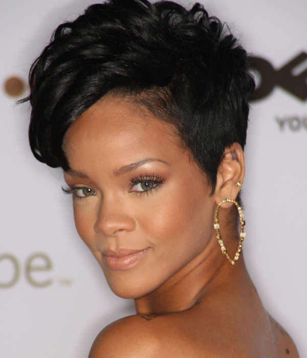 High pixie short quick weave hairstyle
