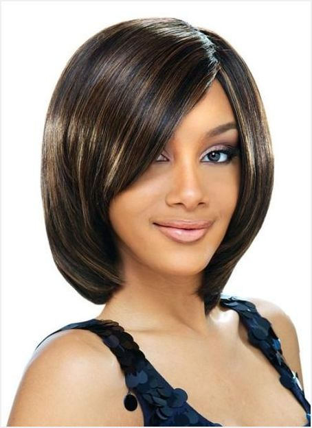 Balck Women Straight And Neat Weave Haircut For