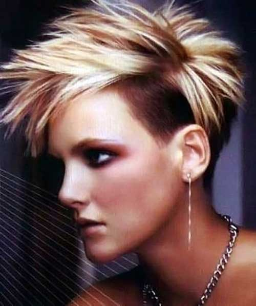 women Spiky undercut hair you love