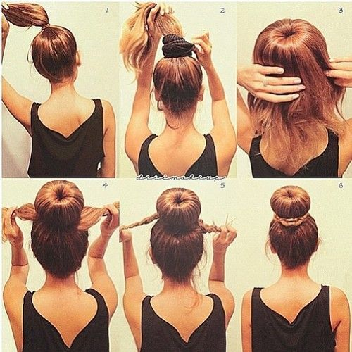 Quick Sock Bun Hairstyles To Create Your Magnetic Image - Hairstyle in bun
