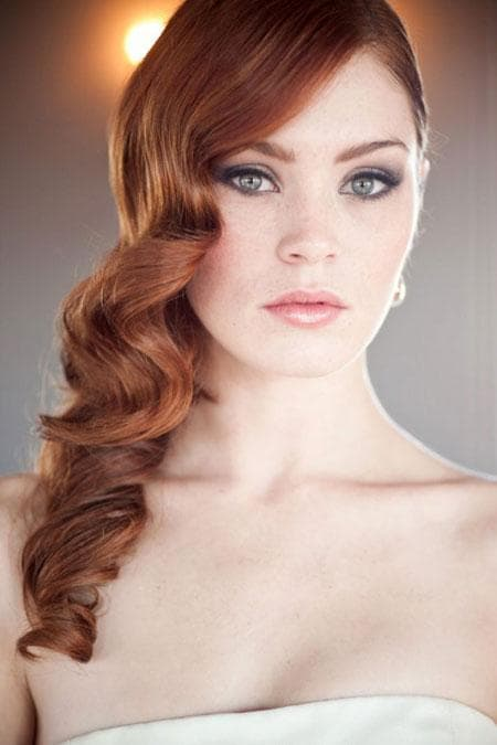 vintage wedding hairstyles for women 2-min